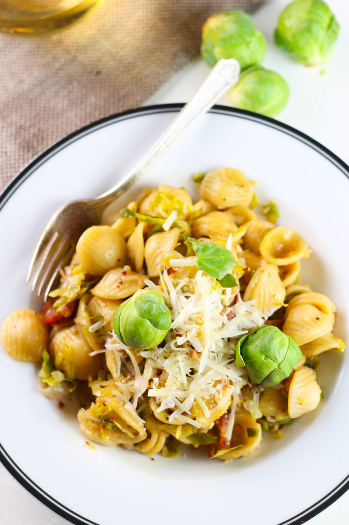 Orecchiette with Brussels Sprouts and Bacon